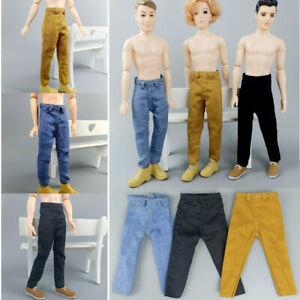 Long Trousers Denim Pants Legging Doll Clothes for Ken Boy Male Hip Pop Clothes