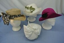 Vintage Women'S Derby Hats Lot Of 4