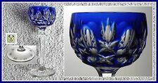 COBALT BLUE Cordial Glass Hock CUT TO CLEAR LEAD CRYSTAL Peill & Putzler GERMANY