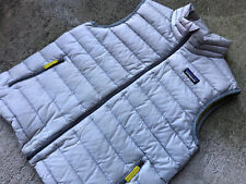 Patagonia Boys Girls Down Vest Large 12 Full Zip Drifter Grey Neon Yellow 68221