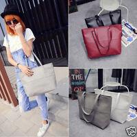 Fashion Women Leather Large Handbag Shoulder Bag Tote Satchel Messenger Purse AU