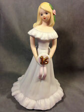 """Enesco Growing Up Girl Age 16 Decorative Collectible 7.5"""""""