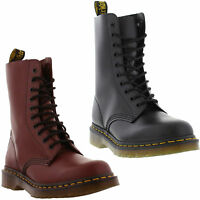 New Dr Martens 1490 Z Mens Womens Black Red Leather Ankle Boots Size 4-13