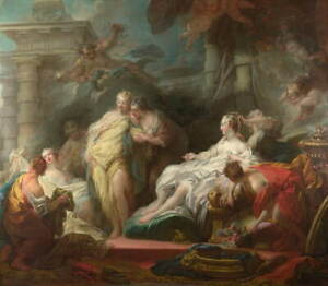 Jean Honore Fragonard Psyche showing her Gifts from Cupid Giclee Canvas Print