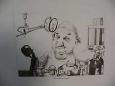 """Art print Charles Bragg black Lithograph gp """"Anesthesiologist"""" Duotone Signed"""
