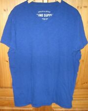 Mossimo Mens V Neck T Shirt Utility Style Athletic Fit Cobalt Blue Size X Large