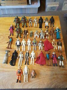 Vintage Kenner Star Wars Figure Bundle x 37 Boba Fett Etc
