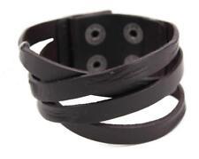 Guess Men's Braided Cuff Wristband Bracelet Cross Road Black 102252