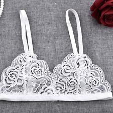 Women Lace Floral Bralette Bralet Bra Bustier Crop Top Sleeveless Cami Tank New