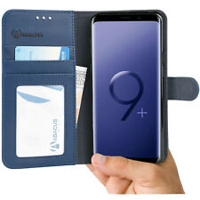 Blue Wallet Case Flip Cover w/ Stand for Samsung Galaxy S9 Plus -by Abacus24-7