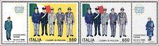 1986 ITALIA CORPI POLIZIA EUROPEI 2 VALORI CON APPENDICI  NUOVO ** MNH (C1764