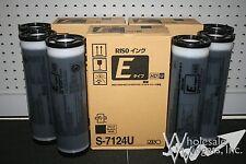 6 Riso Brand S-7124 E Type HD Black Ink Risograph S-7124U RZ MZ 990 1090 S-4841