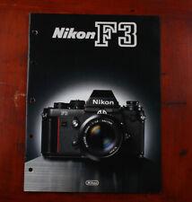Nikon F3 Sales Brochure 8064-02 Kec (8002)/215417