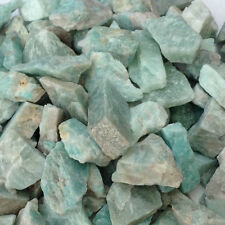 10 x ROUGH UNTUMBLED GREEN AMAZONITE STONES - Gemstones/Confidence/Self Esteem.