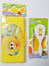 Big Bird Baby Wipe Case and Brush Comb Set