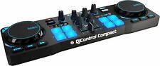 Compact DJ Control Mini Party Mixer Small Music Controller Dual Mixing Decks Usb