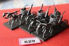 Juegos taller Warhammer Tomb Kings esqueleto carros Regimiento x3 modelos fuera de imprenta B2