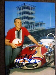 AJ FOYT Authentic Hand Signed Autograph 4X6 PHOTO - RACE CAR DRIVER LEGEND