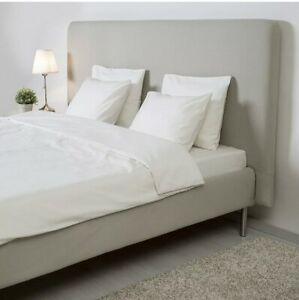 Ikea Tomrefjord Dimmelsvik Beige Headboard And Bed Frame Cover 204.181.82 King