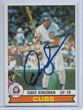 1979 TOPPS O-PEE-CHEE DAVE KINGMAN AUTOGRAPH AUTO #191 CHICAGO CUBS