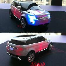 Car Shape 2.4G Wireless LED Optical USB Mouse Mice 3D for PC Laptop White E1O3