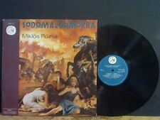 SODOM AND GOMORRA  Original Soundtrack  DBL LP  Miklos Rozsa  Italian