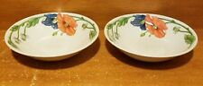 "Villeroy & Boch AMAPOLA Soup / Cereal bowl set of 2, 6 1/8"", Floral, Very good"