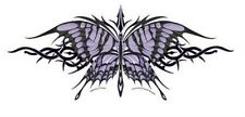 Lg Ivory and Purple Tribal Butterfly Sticker / Decal Die Cut by Nene Thomas New