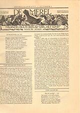 JAARGANG DE MEREL/ZUIGELING EN KLEUTER 1932 - Mien Labberton (redactie)