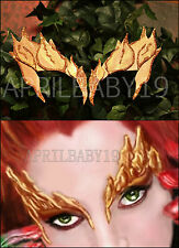Poison Ivy Leaves Eyebrow Eye mask METALLIC EARTH  Glitter Trim Leaf Elf Fairy