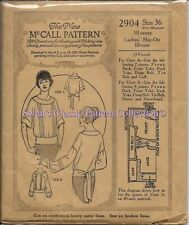 Vintage Blouses Sewing Pattern M2904 Size 36""