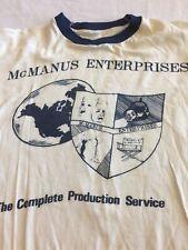 McMaus Enterprises Production Inc. Vintage T-shier Early 1970's Xl