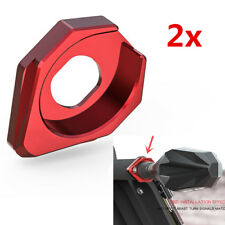 Red CNC Motorcycle Turn Signal Indicator Light Base Adpater Washer Socket 2pcs