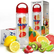 Savvy Fruit Infusion Water Bottle - 24 Oz - Healthy Drinks Ades Lose Weight