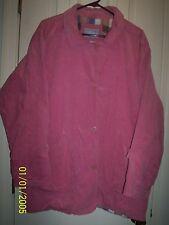 BLAIR Pink Corduroy Jacket with Plaid Lining Sz XL