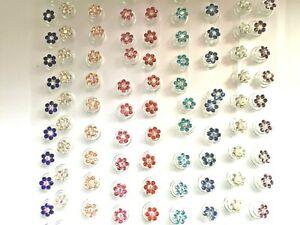 Pretty.Hair. Jewels.Spring.Spirals.Gems.Coils.Weddings.Brides.Proms.flower.12pk