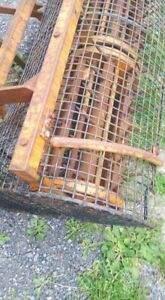 Aerator 4ft 6 wide with safety cage  For Tractor 3 Point Linkage.