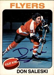 Don Saleski Signed 1975-76 O-Pee-Chee Card #262 Philadelphia Flyers