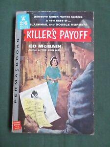 KILLERS PAYOFF - ED MCBAIN -  PERMA BOOKS VINTAGE USA PAPERBACK -1958