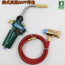 Mapp Gas Brazing Torch Self Ignition Trigger 1.5m Hose Propane Welding Heating