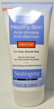 1 Neutrogena Healthy Skin Anti-Wrinkle Anti-Blemish Cleanser Scrub Skin 5.1 oz