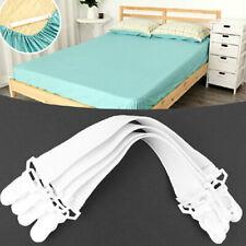 4pcs Adjustable Fastener Clip Suspender Straps Iron Board Bed Sheet Holder