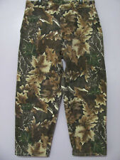 McAlister Tin Cloth Camo Hunting Pants ~38~Waxed Cotton 37 x 28.5~Could lengthen