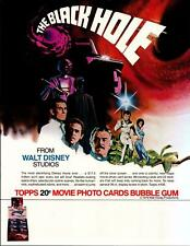 The Black Hole Trading Card Dealer Sell Sheet Sale Ad Topps 1979 Disney