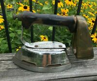 Vtg Sun Flame Appliance Gas Fueled Self Heated Clothes Sad IRON Pat 1936 Antique