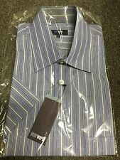 Peter Werth Short Sleeve Striped Shirt/Blue - Extra Large (Old Logo)