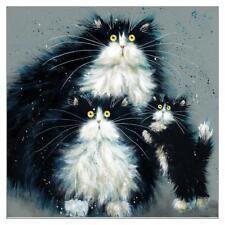 "Kim Haskins Cute Cat Kitten Quality Greetings Card ""Purrenthood"" 6x6 Blank"