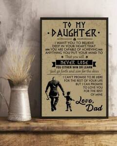 Viking Family Dad Daughter Poster Gift Awesome Poster Best Great Home Decor