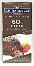 Ghirardelli Premium Baking Bar 60% Cacao Bittersweet Chocolate 4 oz