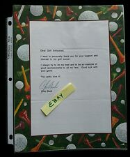 Chip Beck Golf Enthusiast Golfer Autographed Letter U Gotta Love it